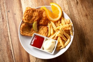 Fish and chips - typical English fare