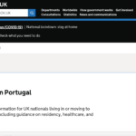 UK Government Advice for Living in Portugal